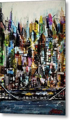 Manhattan Morning Metal Print