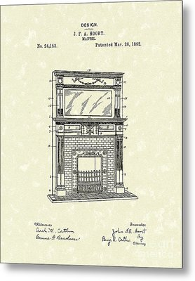 Mantel 1895 Patent Art Metal Print