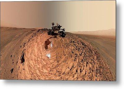 Mars Curiosity Rover Self-portrait Metal Print by Nasa/jpl-caltech/msss