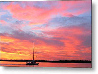 Masonboro Sunset Metal Print by Karen Rhodes