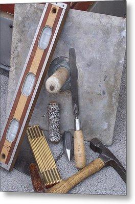 Masonery Tools Metal Print