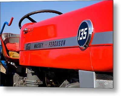 Massey Ferguson 135 Vintage Tractor Metal Print by Paul Lilley