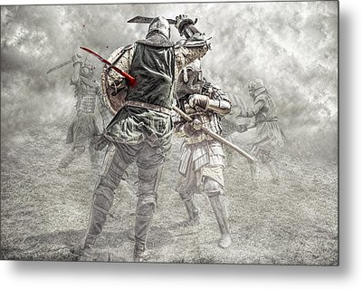 Medieval Battle Metal Print by Jaroslaw Grudzinski