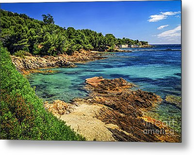 Mediterranean Coast Of French Riviera Metal Print by Elena Elisseeva