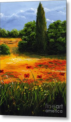 Mediterranean Landscape Metal Print by Edit Voros