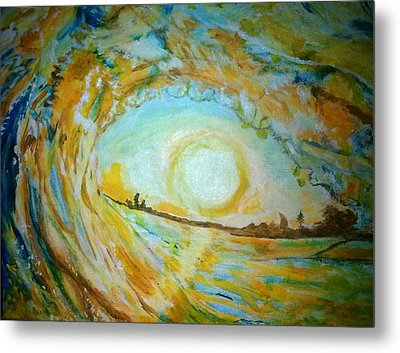 Mellow Yellow  Metal Print by Michelle Reid