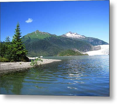 Mendenhall Glacier Metal Print by Jennifer Wheatley Wolf