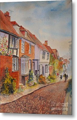 Metal Print featuring the painting Mermaid Street Rye by Beatrice Cloake