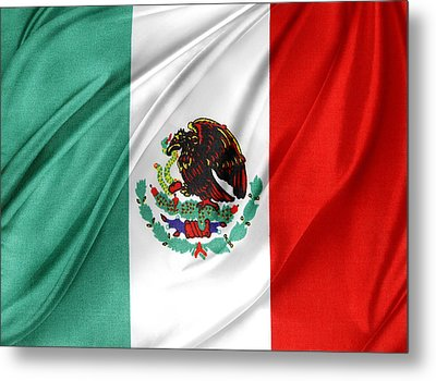 Mexican Flag Metal Print by Les Cunliffe