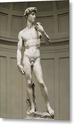 Michelangelo 1475-1564. David Metal Print by Everett