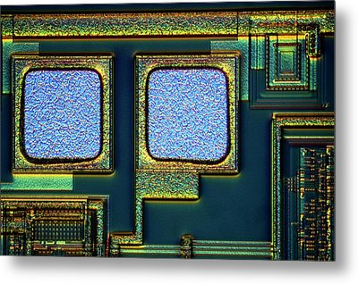 Microchip Surface Metal Print