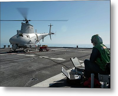Military Helicopter Drone Metal Print by Us Navy
