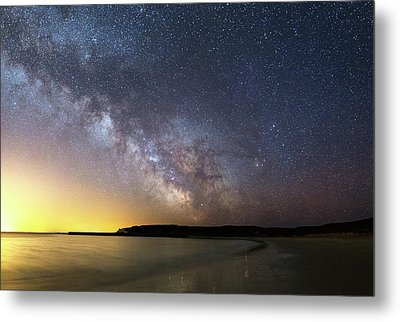 Milky Way Over The Coast Metal Print by Laurent Laveder
