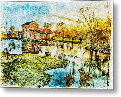 Mill By The River Metal Print by Jaroslaw Grudzinski