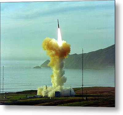 Minuteman Nuclear Missile Launch Metal Print by Us National Archives