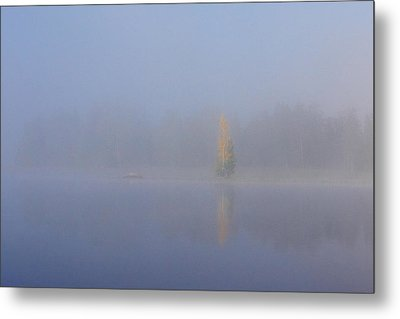 Misty Morning On A Lake Metal Print by Jouko Lehto