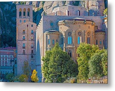 Montserrat Monastery Near Barcelona Spain Metal Print