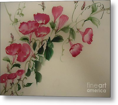 Metal Print featuring the painting Morning Glory by Dongling Sun