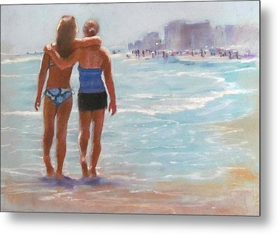 Mother And Daughter Metal Print by Janet McGrath