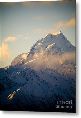 Mount Cook New Zeland Metal Print by Tim Hester