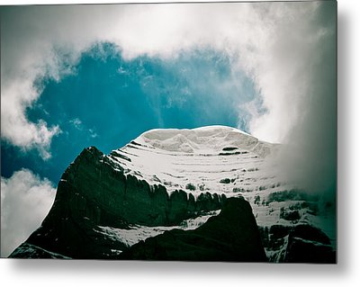Mount Kailash Western Slope Home Of The Lord Shiva Metal Print