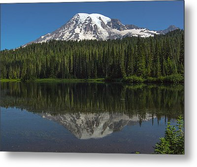 Mount Rainier From Reflection Lake Metal Print by Bob Noble Photography