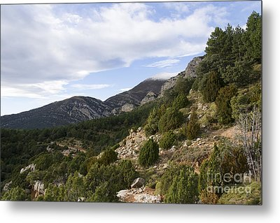 Mountain Landscape In Huesca Metal Print