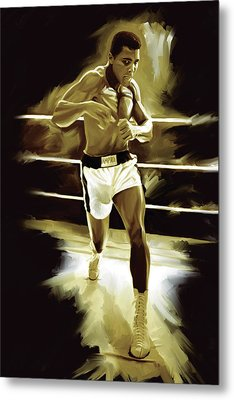 Muhammad Ali Boxing Artwork Metal Print by Sheraz A