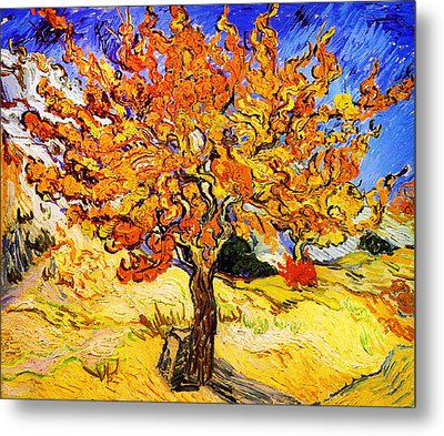 Mulberry Tree Metal Print by Celestial Images