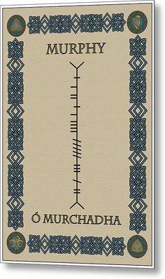 Metal Print featuring the digital art Murphy Written In Ogham by Ireland Calling