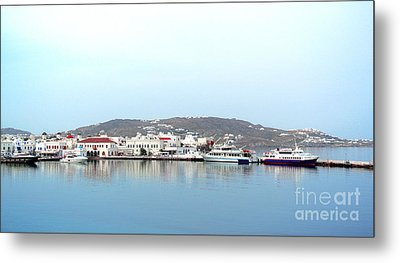 Mykonos Skyline Metal Print by Sarah Christian