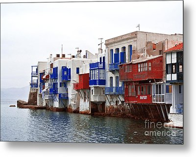 Mykonos Village Metal Print by Sarah Christian