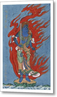 Mythological Buddhist Or Hindu Figure Circa 1878 Metal Print