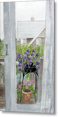 Metal Print featuring the painting Nantucket Room View by Carol Flagg