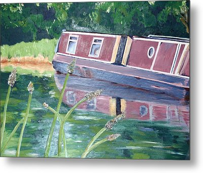 Narrowboat Metal Print