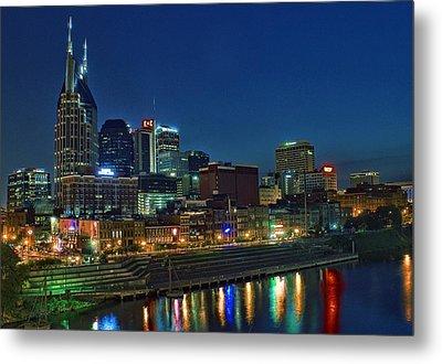 Nashville Cityscape Metal Print by Patrick Collins
