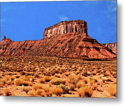 Metal Print featuring the painting National Navajo Tribal Park by Bob and Nadine Johnston