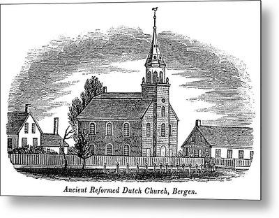 New Jersey Church, 1844 Metal Print by Granger
