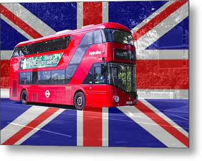 New London Red Bus Metal Print
