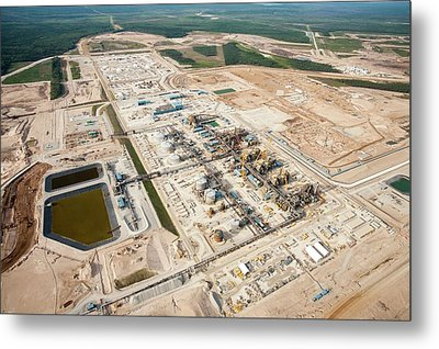 New Tar Sands Plant Being Constructed Metal Print