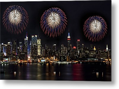 New York City Celebrates The 4th Metal Print