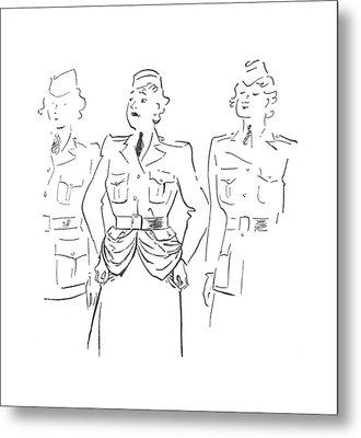 New Yorker July 4th, 1942 Metal Print by Garrett Price