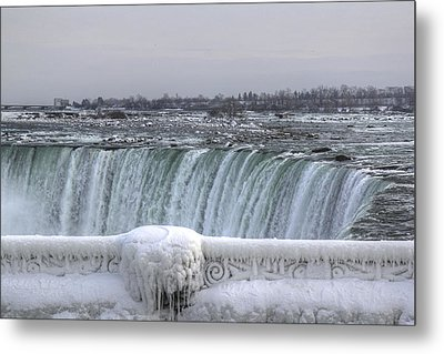 Niagara Falls In The Winter Metal Print by Nick Mares