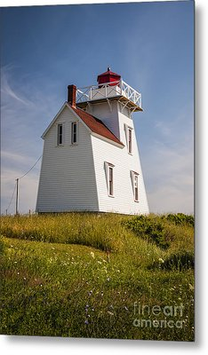 North Rustico Lighthouse Metal Print by Elena Elisseeva