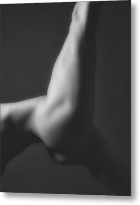 Nude Yoga Metal Print by Hugh Smith