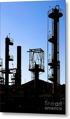 Oil Refinery Metal Print by Henrik Lehnerer