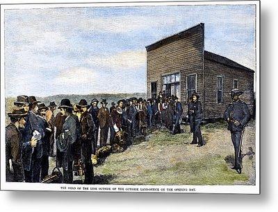 Oklahoma Land Rush, 1889 Metal Print by Granger