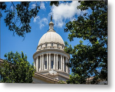 Oklahoma State Capital Dome Metal Print