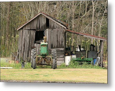 Old Barn Metal Print by Ronald Olivier