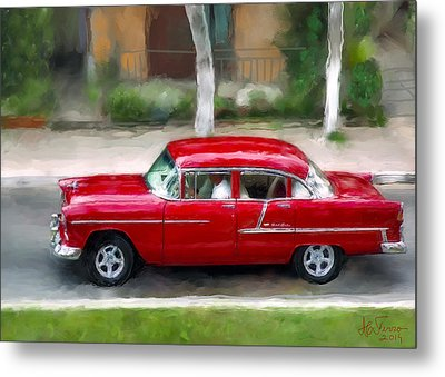 Metal Print featuring the photograph Red Bel Air by Juan Carlos Ferro Duque